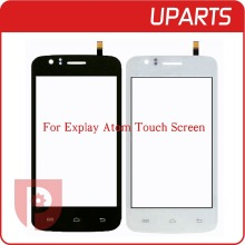 "50pcs/lot New Original 4.0"" For Explay Atom Touch Screen Digitizer Sensor Front Glass Lens Black White + Free Shipping"