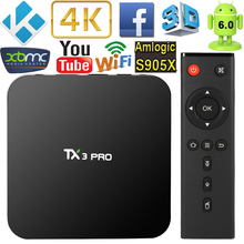 TX3 PRO Smart Android TV Box Android 6.0 S905X UHD 4K 1G / 8G Mini PC WiFi & LAN H.265 DLNA Airplay Miracast Media Player(China)