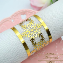 50pcs free shipping laser cut snowflakes design wedding napkin rings from Mery art crafts manufacturer(China)