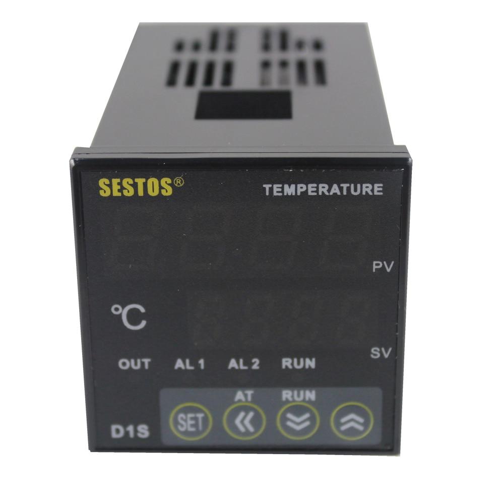 Sestos Dual Digital PID Temperature Controller 2 Omron Relay 100-240V D1S-VR-220 + PT100 + 40A SSR<br>