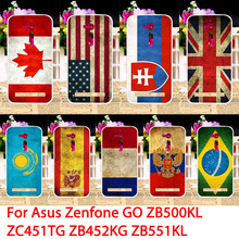 Mobile Phone Cases For ASUS ZenFone Go ZB500KL ZC451TG ZB452KG ZB500KG TV ZB551KL Z00SD ZB450KL Brazil Flags Back Covers Housing