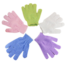 5PS Shower Gloves Exfoliating Wash Skin Spa Bath Gloves Foam Bath Skid Resistance Body Massage Cleaning Loofah Scrubber Cheapest(China)