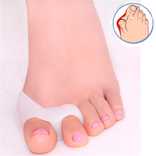 New 1 Pair Feet Care Two Hole Silicone Fix Big Toe Toes Outer Appliance Pain Relief Guard Thumb Valgus Protector