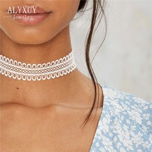 Fashion jewelry fashion cool cloth Lace Tattoo choker necklace  Valentine's Day present love gift for women 1lot=2pieces N2003