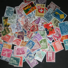 100 PCS/ Lot Have Used Commemorative Small and Middle Size Switzerland Postage Stamps Sellos With Mark