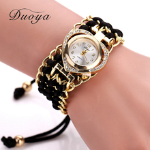 Duoya Brand Watch Women Bracelet Heart Fashion Watch Quartz Wristwatch Clock Ladies Casual Vintage Women Dress Watch DY055
