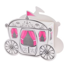 100pcs Wedding Party Favors Box Candy Gift Box Cinderella Carriage Pumpkin Coach Carriage Gift Box Wedding Souvenir(China)