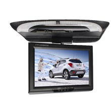 "DC8V-36V 9"" Inch LCD Roof Mount Monitor Flip Down Monitor Car Monitor 2 Ways Video Inputs AV Function 981-1(China)"