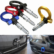 Car Auto Racing Screw in Front Rear Aluminum Alloy Towing Trailer Hook Ring