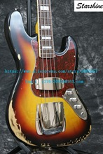 Instock Starshine Relic 1961 FD JAZZ 4 strings electric bass guitar Relic handmade(China)