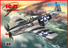 ICM model 48154 1/48 Mustang P-51K - WWII American Fighter plastic model kit