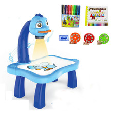 Funny Baby Drawing Learning Desk Toy With Project Function Children Educational Musical Painting Table Kids Favor Gift Toy(China)