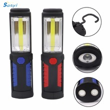 COB LED Work Light Inspection Lamp Flashlight Torch Built in Magnetic Hook Hand Tool Garage Outdoors Camping Sport Home(China)