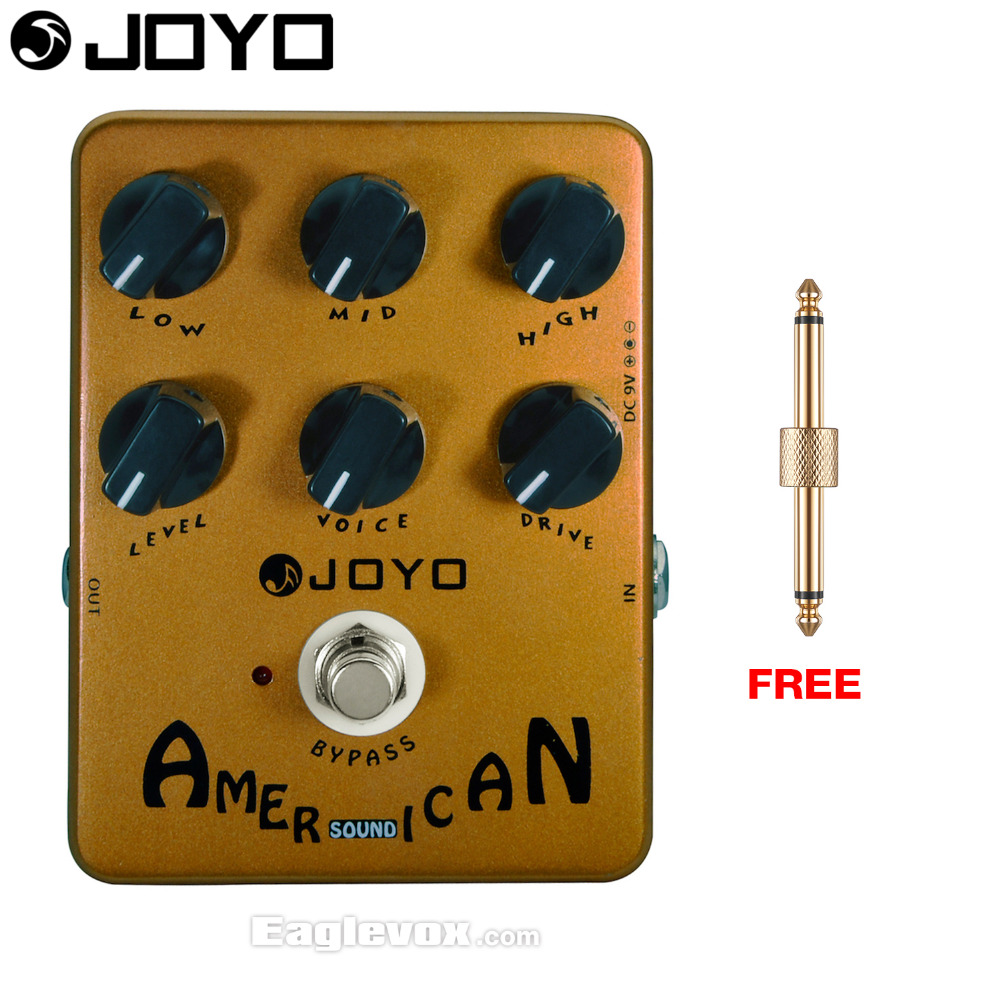JOYO American Sound Amp Simulators Electric Guitar Effect Pedal Bypass JF-14 with Free Connector<br>
