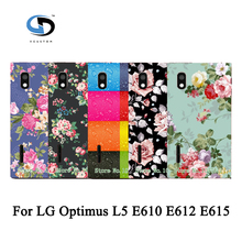Lovely Painted Rose Peony Beautiful Flower Floral Drawing Hard Plastic Case For LG Optimus L5 E610 E612 E615 Skin Back Cover