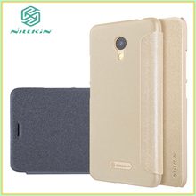 10pcs Meizu M5c Case Nillkin Meizu A5 Cover Sparkle Leather Case Flip Cover Case 5.0 inch Phone Cases + Retailed Package(China)
