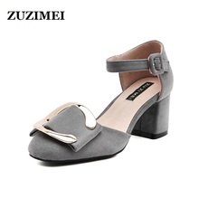 Summer Sandals For Women 2017 Fashion Brand Women Ankle Strap Sandals Buckle Strap Sandals High Heel Shoes Black Red Sandals