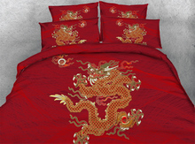 Buy Royal Linen Source 4 Parts Per Set Golden dragon beautiful red background 3d bed linen set for $85.20 in AliExpress store