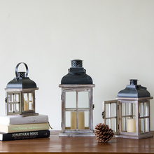 New design Classic candle holder europe lantern woodern Iron Candle Holders wedding home Decoration candlestick freeship