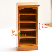 1:12 Cute MINI Dollhouse Miniature Furniture accessories dollhouse decoration Interval of 1.4cm of the display cabinet