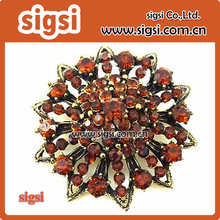Supplier wholesale rhinestone brooch for wedding decoration