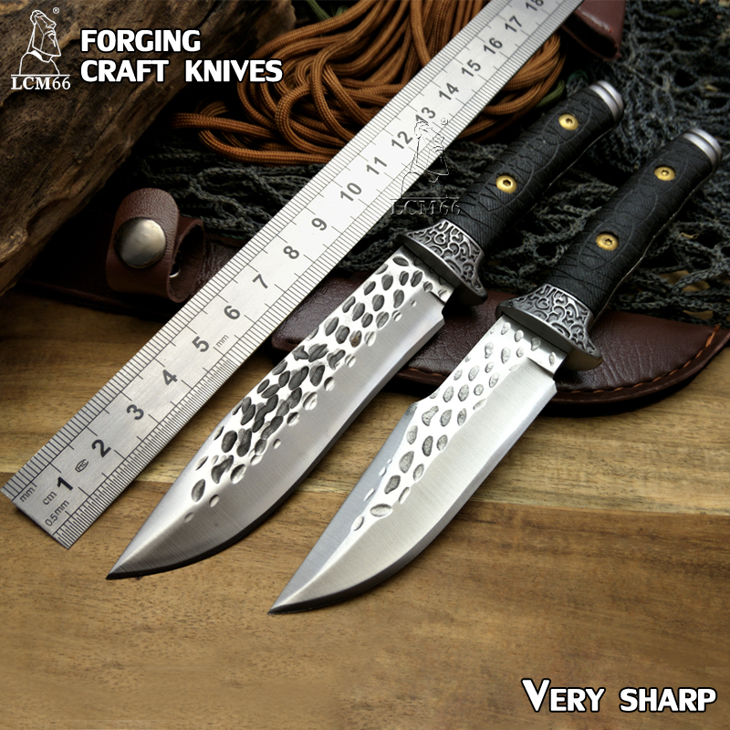 LCM66 forging craft knives Fixed Blade Camping Hunting Knives G10 Survival Knife EDC Tools Collection of gifts Browning tool<br>
