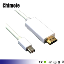 Mini DP to HDMI cable Gold Plated Mini DisplayPort  to HDMI HDTV Cable for Dell Lenovo computer Apple MacBook Microsoft Surface