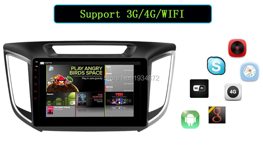 Android 6.0 CAR Audio DVD player FOR HYUNDAI ix25CRETA gps Multimedia head device unit receiver BT WIFI obd