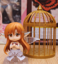 Hot Game Anime Sword Art Online Asuna Titania Version Elf Cage Nendoroid 382 # DIY Action Figure Toys New Box