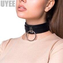 Uyee New Pu Leather Collar Wide Neck Strap Adjustable Belt Sm Bondage Restraints Bondage Sexy Bdsm