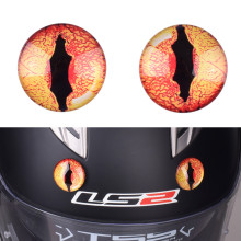 2Pcs Demon Eyes Motorcycle Helmet Accessories Creative Dinosaur Pupil Decoration AGV SHOEI ARAI NOLAN HJC Helmets