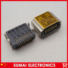 25pcs/lot HDMI female Jack 19pin HDMI JACK Connector sockect For samsung hp dell acer lenovo etc  Free shipping