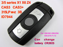 Auto remote key 315LPMHZ system X1 X6 Z4 35 for E60 E61 E90 E92 E93 E70 E71 E72 CAS3 smart key ID7944,Free Shipping