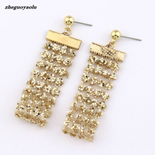 Golden Sexy Invisible Sequin Earrings Personality Wild Trend Stud Earrings Simple Earrings Wholesale Crystal Earrings Brincos