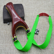 Powerful Wooden Wood Slingshot Catapult Aim Shooting Hunting Sling Shot Bow and Arrow High Quality(China)