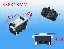 SMD space formula 3X6X4.3MM Tactile Tact Push Button Micro Switch Momentary 3*6*4.3(China)