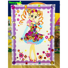 Happyxuan 4pcs/pack DIY Crystal Diamond Stickers Princess Children Handicrafts Girl Learning Education Toys