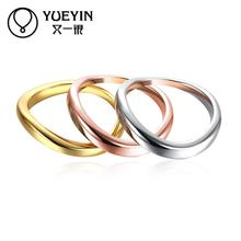Rose gold color Engagement rings for lady wedding jewelry bague femme Vintage gift Wholesale Retail Christmas gifts