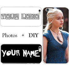 Customize WordArt Name Photo Picture Cell Phone Case For Lenovo K5 A6020 Vibe K5 Plus (A6020A46) DIY Hard Plastic Back Cover