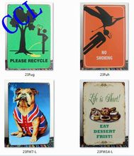 Free shipping 16 Styles funny tin signs,funny metal signs for home bar pub wall art decoration ,30x20cm(China)