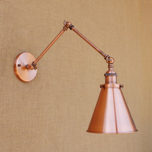 Adjustable Swing Long Arm Light Fixtures Dinning Room Stair Loft Style Industrial Vintage Wall lamp Sconce Retro Applique LED