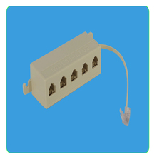 1pcs New RJ11 6P4C 1 Jack to 5 Female RJ11 Telephone Phone Cable Line Y Splitter Extension Cable Adapter Connector