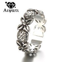 Thailand Silver Jewelry Rings Lucky Clover 925 Silver Ring Women