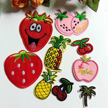 3Pcs fashion Fruit series Patch cute logo Kids clothes women Motif Embroidered iron on patches for clothing(China)