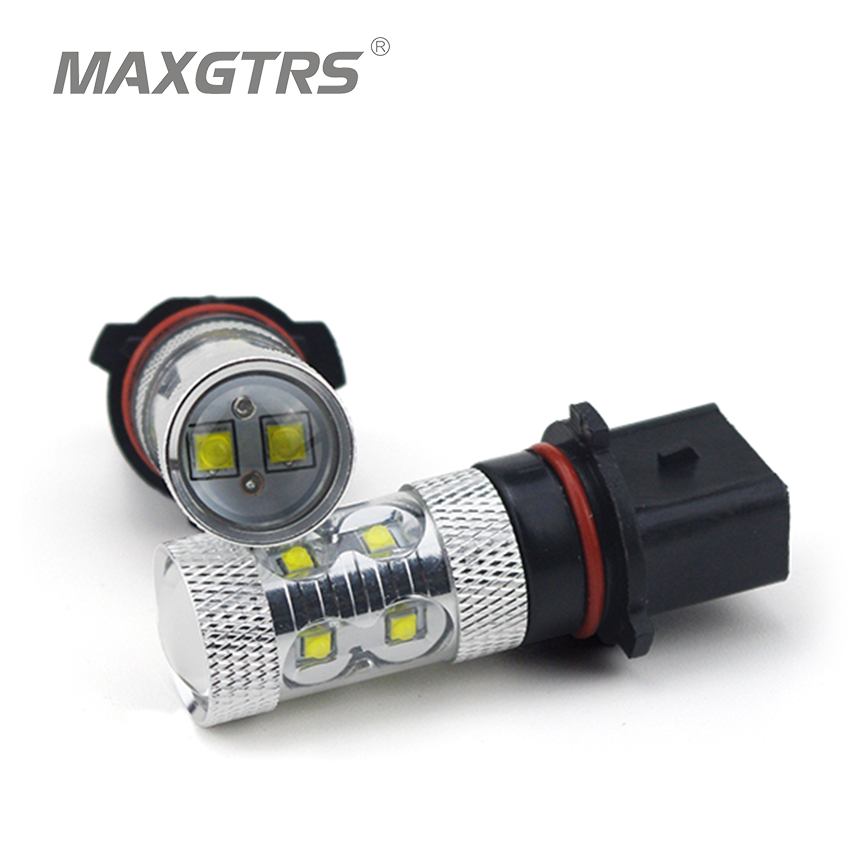 2x  High Power 50W Car P13W SH24W White/Red/Amber CREE Chip Led XBD Front Daytime Running Light Fog Light DRL Replacement Bulbs<br><br>Aliexpress