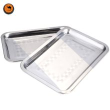 New BBQ Food Tools Stainless Steel Food Tray Plate Barbecue Grill Supplies Portable Outdoor Accessories Camping Gadget One Pcs(China)