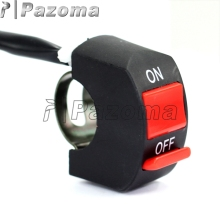 "PAZOMA 12V DC Red button Kill ON/OFF Scooter 7/8"" Handlebar Engine Switch For Honda & Chinese ATV Dirt Pit Bike Scooter"