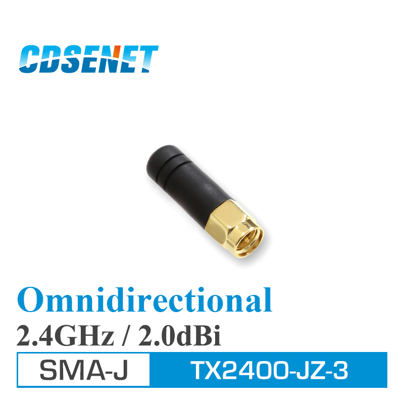 10Pc 2.4GHz Wifi uhf Antenna Omni Directional SMA Male TX2400-JZ-3 2.0dBi 2.4 GHz Mini Omnidirectional Antenna for communication(China)
