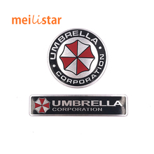 3D Aluminum Umbrella corporation car sticker accessories stickers For ford focus cruze kia rio skoda octavia mazda opel M bmw vw