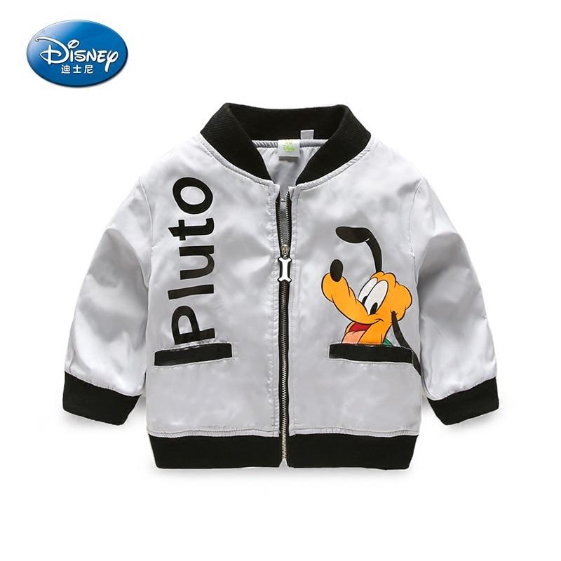 Disney Cartoon Pluto Boys Jackets 2017 Fashion Autumn Childrens Outwear Coats Zipper High Quality embroidery Jacket Cotton Coat<br>
